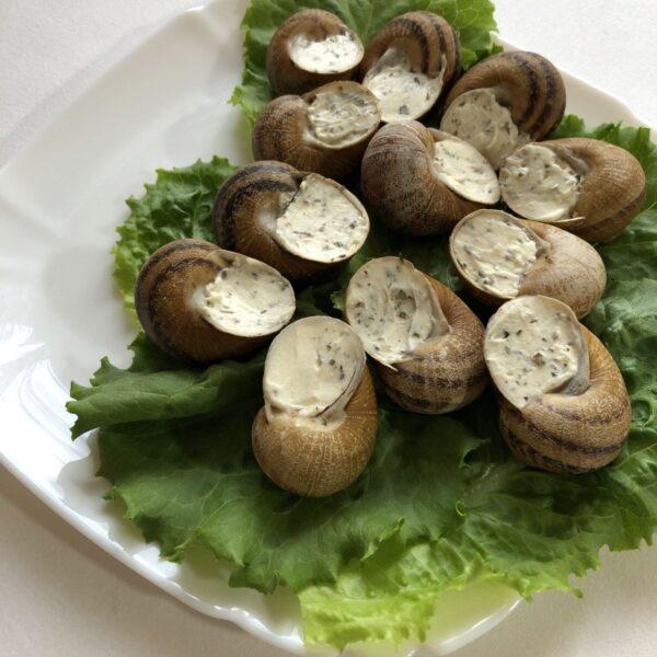 escargot with snail meat european