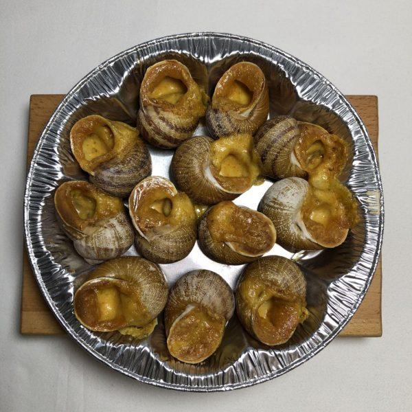 escargot with snail meat italian